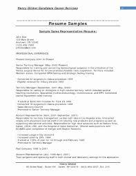 Sales Rep Sample Resume 60 Elegant Sample Resume Territory Sales Representative Free 25