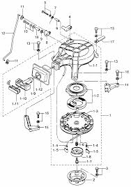 барабанный стартер и блок блокировки стартера мотора tohatsu m9 8b