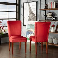 red upholstered dining chairs. Parson Classic Upholstered Dining Chair (Set Of 2) By INSPIRE Q Bold - Free Shipping Today Overstock 10480712 Red Chairs S