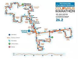 Nationwide Childrens Hospital Columbus Marathon Course Map