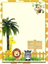 Free Printable Safari Birthday Invitations Jungle Theme Birthday Invitations Free Printable Idea Zoo Party