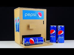 Hack Pepsi Vending Machine Stunning How To Make PEPSI VENDING MACHINE From Cardboard YouTube Crafts