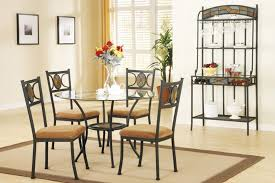 dining room sets from iron nice looking small dining room design with round glass table