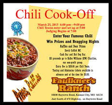 chili supper flyer word from the herd chili cook off faulkners ranch