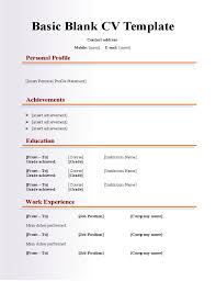 Blank Resume Template Printable Delectable Printable Sample Resume Blank Resume Template