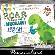 Dinosaur Birthday Invitation Party Like A Dinosaur Birthday Invitations