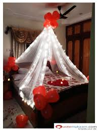 Room Decoration For Wedding Night With Lights Anniversary Decoration At Home Romantic Room Decoration