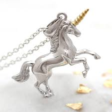original personalised gold and sterling silver unicorn necklace