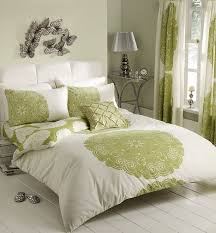 manhattan cream green duvet cover set