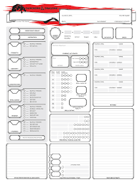 shadowrun 5 character sheet oc improved vanilla 5e character sheets plus magic item handout