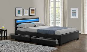 king size bed with storage. Contemporary Storage NEW Double King Size Bed Frame LED Headboard Night Light With Storage U0026  Mattress And With