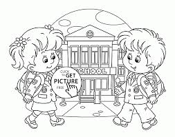 Small Picture First Day of School coloring page for kids educational coloring