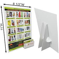 Cardboard Easel Display Stand Delectable 332 33232 X 332332 White Cardboard Easel Display Label Business Card Pocket
