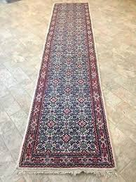 oriental persian 32 inch wide x 12 ft long wool hand tied knotted runner rug