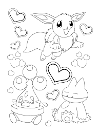 Pokemon Chibi Coloring Page Eeveelutions Chibis Iv Kawaii Frontier