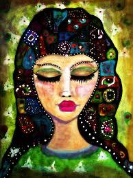 original yoga painting omwoman yoga meditate. Modren Yoga Meditation  Whimsical Woman Fine Art Print Of Painting By Sanoe Watt With Original Yoga Painting Omwoman Meditate G