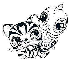 Cat Coloring Pages Popular Littlest Pet Shop To Print Lps Printable