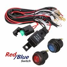 40a led work light bar wiring harness kit fuse relay switch for jeep off road wiring haeness 40a led work light bar wiring harness kit fuse relay switch for jeep off road