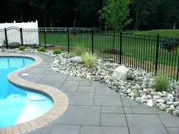 river rock around above ground pool above ground pool landscaping with rocks