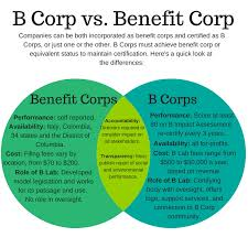 Venn Diagram A Or B B Corp Vs Benefit Corporation Venn Diagram St Pete For Good