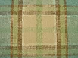 Curtain Fabric Elgin Duck Egg Wool Effect Washable Thick Tartan Curtain Fabric