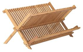 picture of helen s asian kitchen bamboo foldable compact dish drying rack