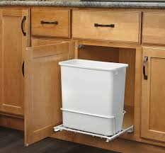 Amazon.com: Rev-A-Shelf - RV-814PB - Single 20 Qt. Pull-Out White Waste  Container with Adjustable Frame: Home & Kitchen
