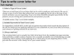 Resume Cover Letter For Lpn Lvn Nurse Cover Letter