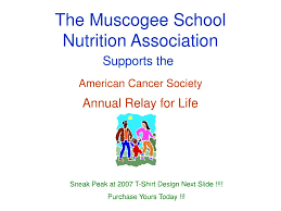 Relay For Life Shirt Designs Ppt The Muscogee School Nutrition Association Powerpoint