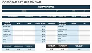 Payroll Pay Stub Template Free Payroll Check Stub Template Best Of Free Pay Stub Templates