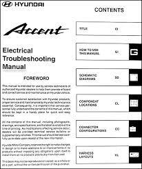 2002 hyundai accent electrical troubleshooting manual original 2002 hyundai accent fuel pump wiring diagram 2002 hyundai accent electrical troubleshooting manual original � table of contents