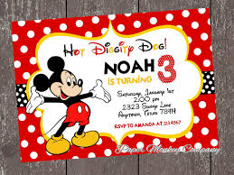 Make Your Own Mickey Mouse Invitations Invitations Mickey Mouse
