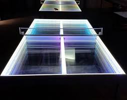 ping pong lighting. The Lighted Ping Pong Tables Split Into Two Halves For Easy Storage. Lighting Programs Included Offer Hundreds Of Moving Color Changing Programs.