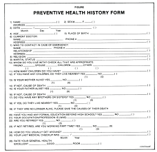 medical health history form template personal medical record template health history form peace