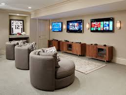 breathing room example of a large classic fully buried basement design in chicago with beige walls game room furniture ideas bedroomcomely cool game room ideas