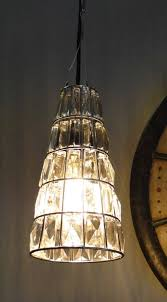cone cut beveled glass pendant light fixture lamp old style crystal chandelier the kings bay