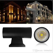 up down dual head outdoor lighting wall lamps cylinder cob 6w 10w led wall light ip65 waterproof porch lights ac 85 265v from china outdoor wall lamps