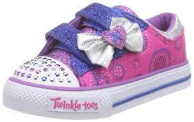 Skechers Kids Twinkle Toes Heart And Sole Light Up Sneaker Amazon Com Skechers Kids Shuffles Wiggle Walkers Light Up