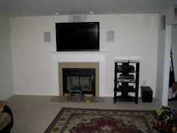 How To Hide Tv Fireplace Stupendous Hide Tv Wires Over Brick Fireplace Hide Tv