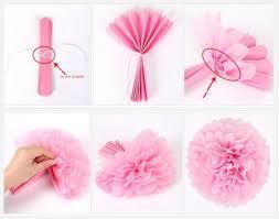Diy Flower Balls Tissue Paper 10 Pieces Lot Tissue Paper Pom Poms Flower Balls For Wedding Room Decoration Party Supplies Diy Craft Paper Flower