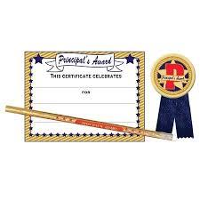 Principal Award Certificate Certificate Award Set Principals Award Student Awards