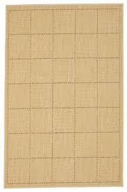 beige check flat weave rug