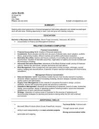 Business Resume Format Magnificent A Resume Template For A Recent Graduate You Can Download It And