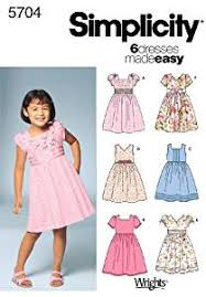 Dress Patterns For Toddlers Delectable Amazon Simplicity Sewing Pattern 488 Child Dresses A 488484848