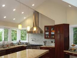pitched ceiling lighting. Image Of: Sloped Ceiling Recessed Lighting Kitchen Pitched