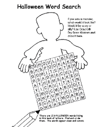 Small Picture Halloween Word Search Coloring Page crayolacom