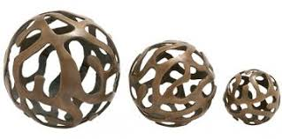 Decorative Sphere Balls Decorative Bronze Sphere Balls Look 100 Less and Steals and Deals 11