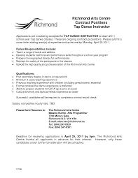 Dance Instructor Resume Download Dance Instructor Resume Sample