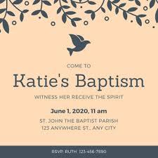 Baptism Invitations Templates Customize 121 Baptism Invitations Templates Online Canva