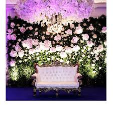 Hanging Paper Flower Backdrop Paper Flower Cloud With Hanging Lights And A Garden Backdrop Stage De